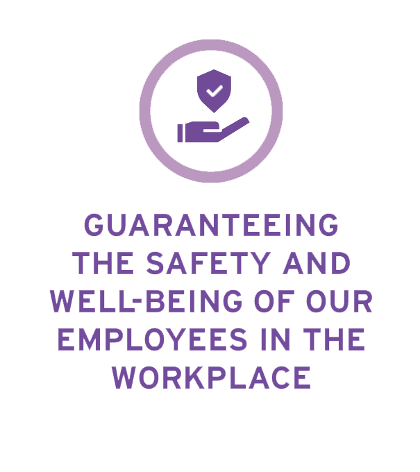 Guaranteeing the safety and well-being of our employees in the work place
