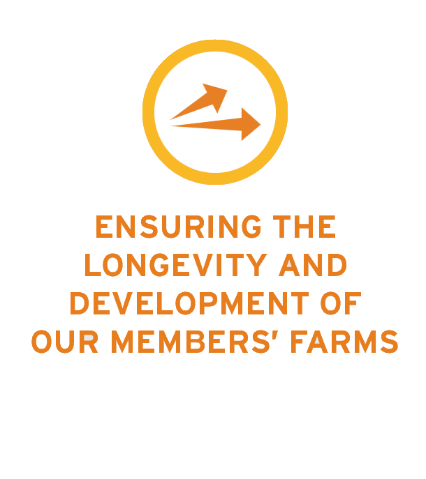 Ensuring the longevity and development of our members farms