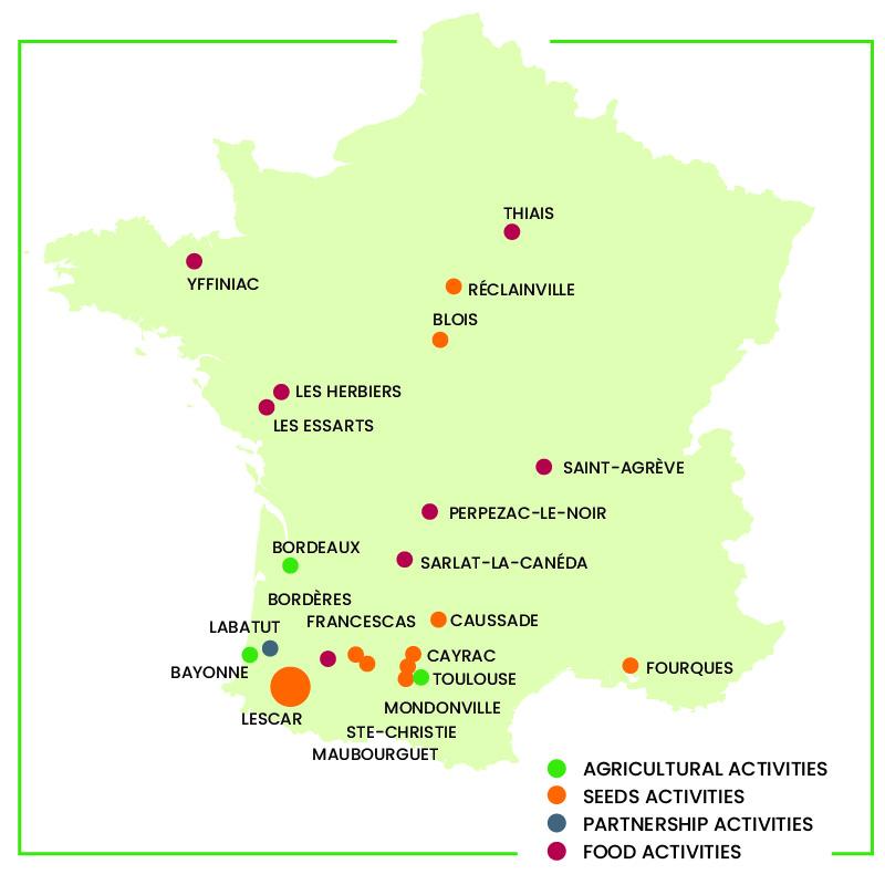 Euralis activities map